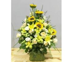 Giỏ hoa đẹp - HT383